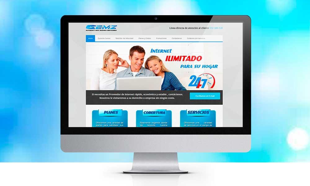 Diseño de pagina web CEMZ